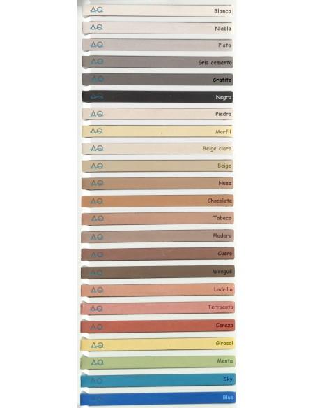 Carta de colores muestras reales Webercolor Premium