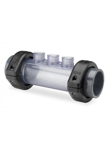 Porta-sondas en línea de tubería