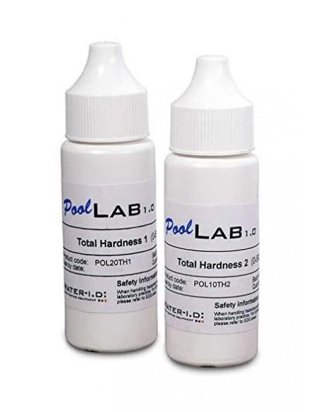Reactivos para Dureza Cálcica total PoolLab, kit TH1 + TH2