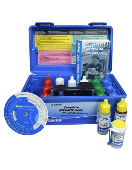 Kit de análisis de agua profesional, Taylor K-2006
