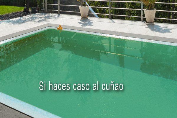 Recuperar el agua verde de la piscina